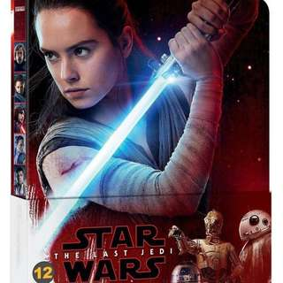 Star Wars The Last Jedi Limited Edition Steelbook Blu Ray + Bonus Blu Ray