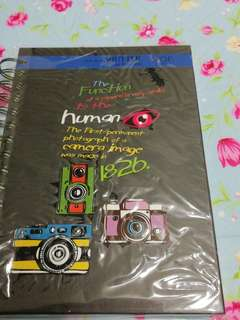 Hard cover half A4 size note book