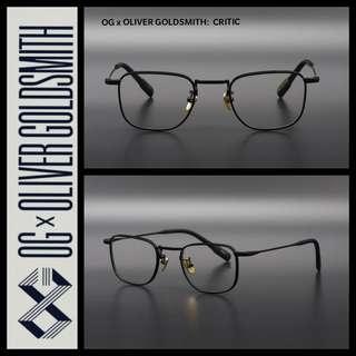 OG x Oliver Goldsmith : Critic Eyewear 近視眼鏡