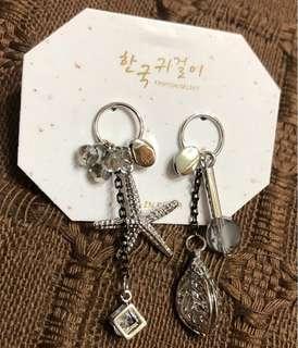🚚 海星葉子耳針耳環