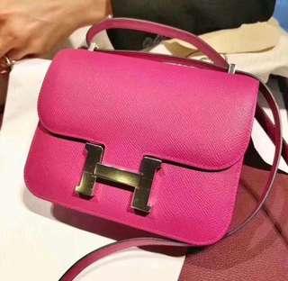 Hermes Constance mini Rose Purple L3 桃紫色