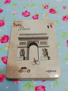 Hard metal cover notebook with 4 different pattern of writing paper