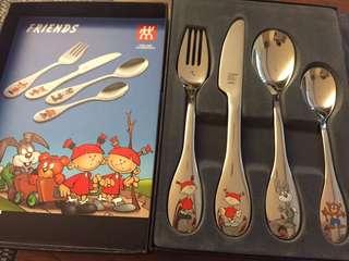德國雙人牌兒童餐具組