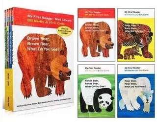 Brown Bear What Do You See (4 books)
