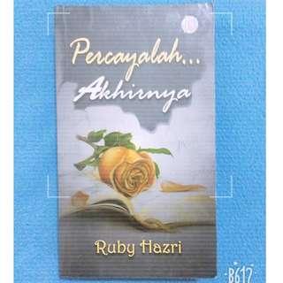 Novel Melayu : Percayalah...Akhirnya