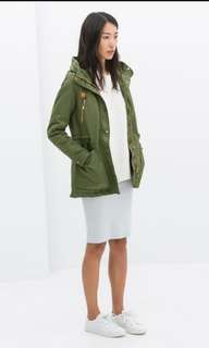Army Green Jacket with hoodie