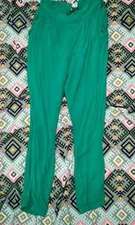 Green blue gypsy pants