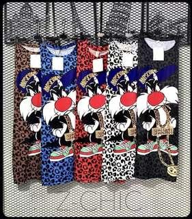 Loony toons leopard mini dress