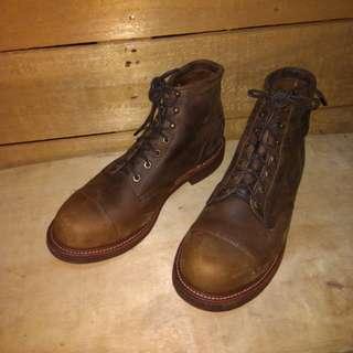 CHIPPEWA U.S.A Cap Toe Boot (Like New!)