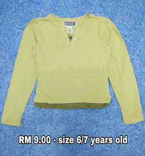 6/7 years old - Kids Cloth Shirt Dress Baby Girl Boy