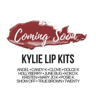 KYLIE LIP KITS 💜 (ARRIVING SOON FROM THE U.S.A.)