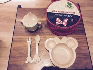 米妮兒童餐具組