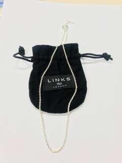 (New)Links of London 全新純銀18吋頸鍊 45cm 925 Silver Pendant Chain  -Retail price HKD640