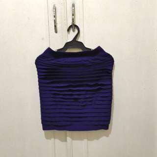 Purple Stretchy Pencil Skirt