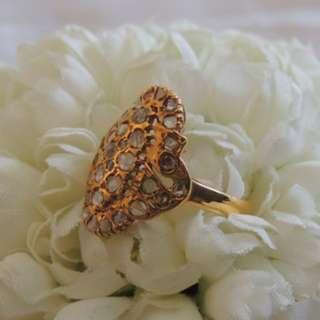 SALES - Vintage Peranakan Nonya Ring - Intan Diamond.