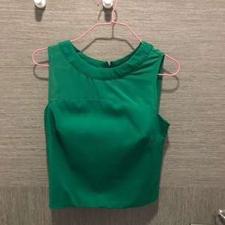 MGP crop top in green