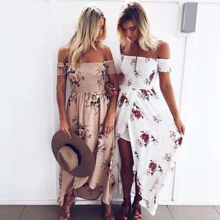 Po/Off Shoulder Floral Dress