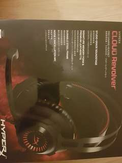 BNIB Cloud Revolver by HyperX gaming headset