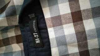 Plaid blue long sleeves