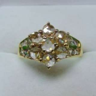 Vintage Peranakan Intan Ring - Beautifully HUGE...