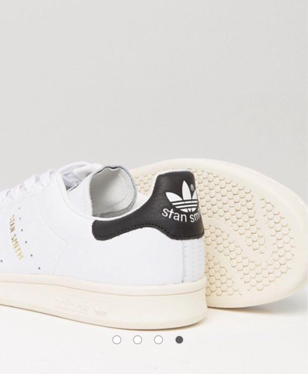adidas originali stan smith formatori in bianco s75076, moda maschile