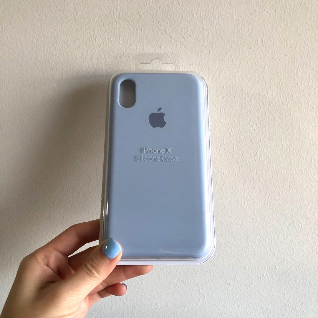 competitive price bb6fc 17d7f Apple iPhone X silicon case (Baby blue)