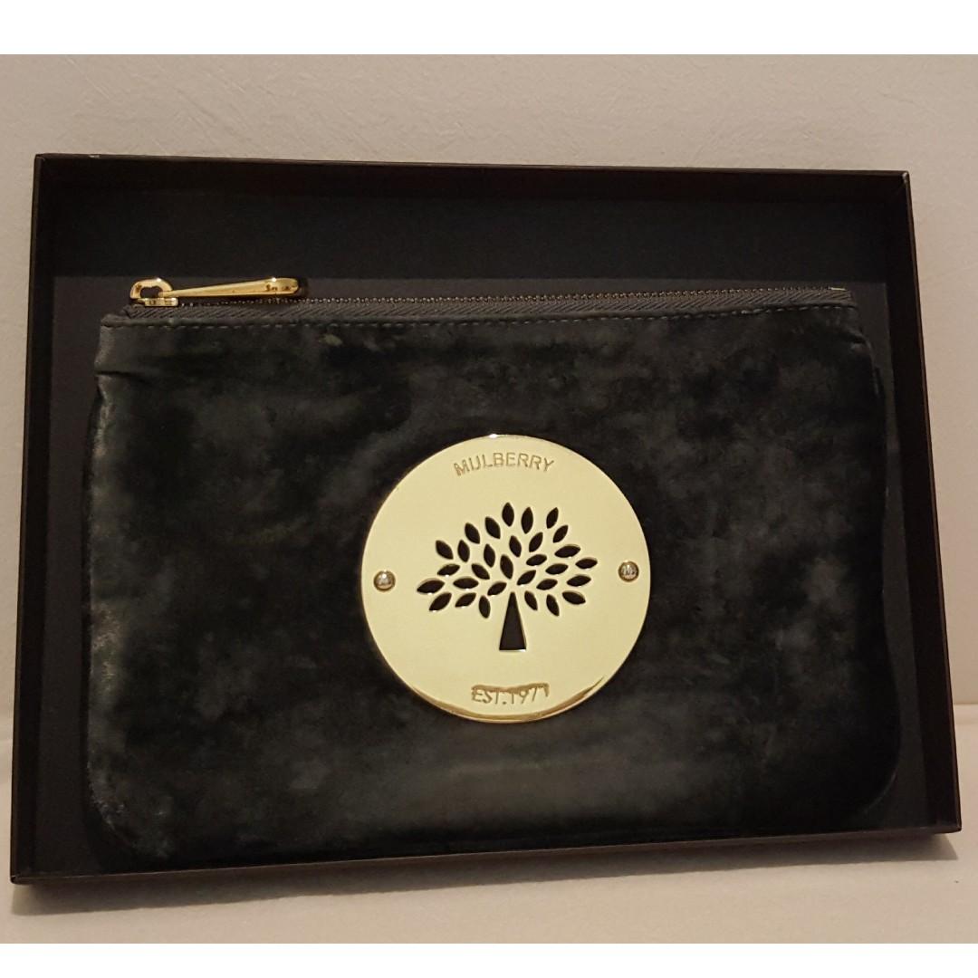 a23d1fb0dd76 Authentic Mulberry Daria velvet pouch bag