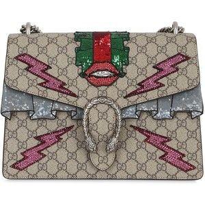 736397d5612 BN Gucci Bolso Dionysus GG Supreme Bordado