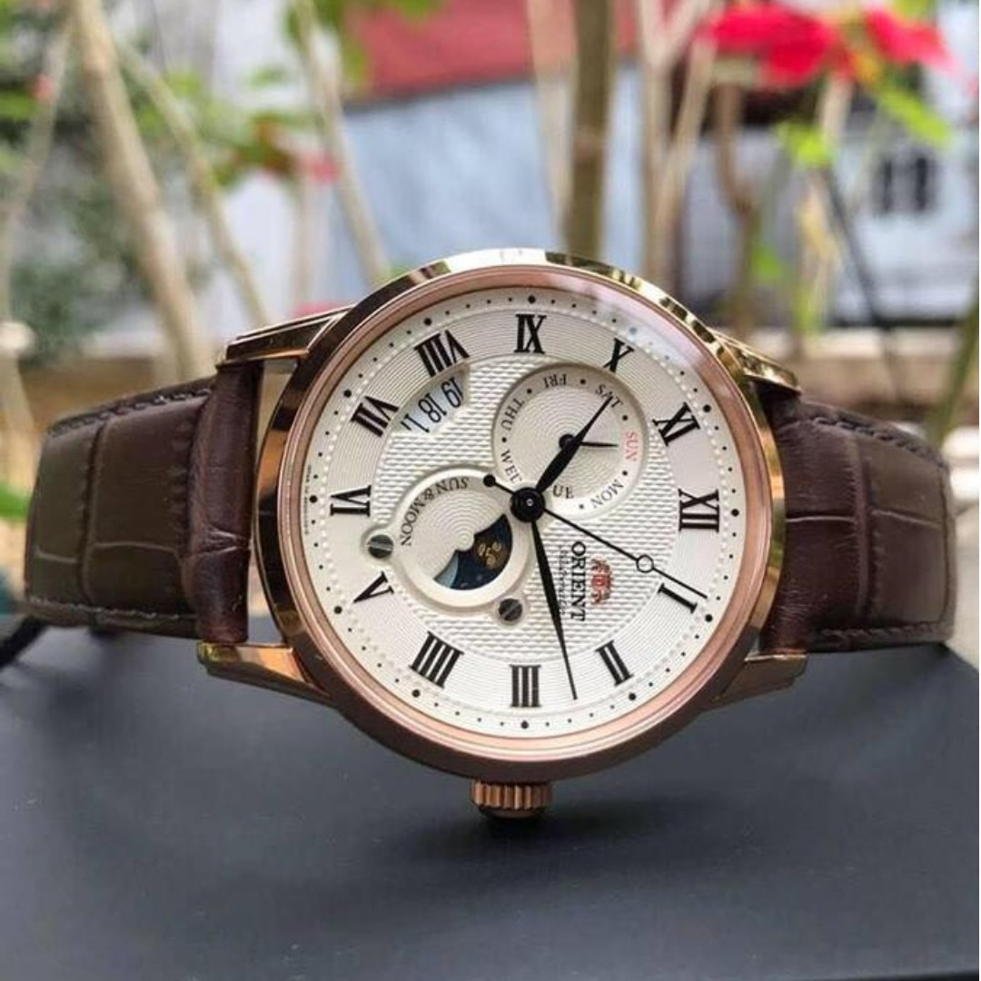 81448f130 BNIB] Orient Automatic Sun And Moon Version 3 Rose Gold SAK00001Y0 ...