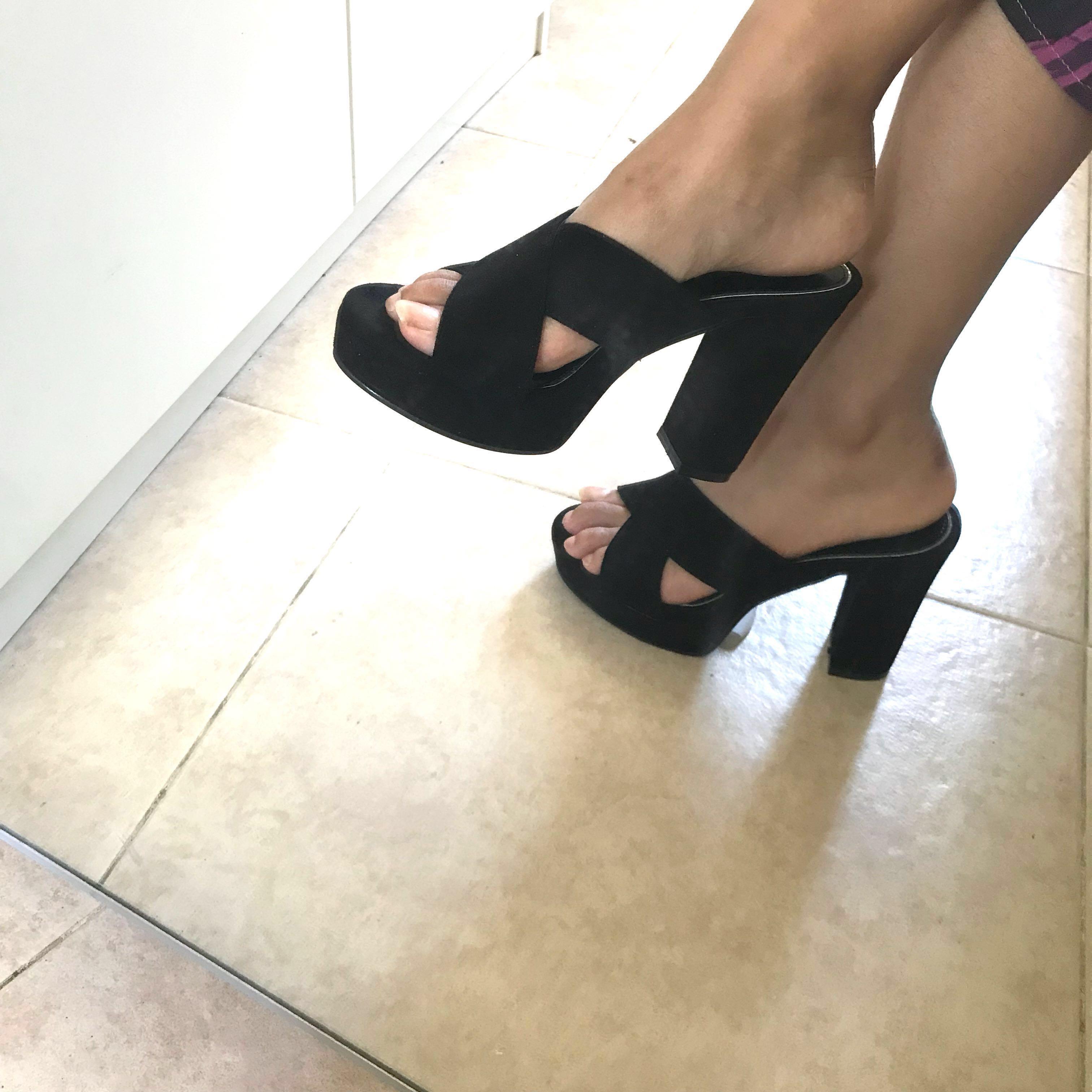 6ccfc0afaa2 Charles keith Platform block heels