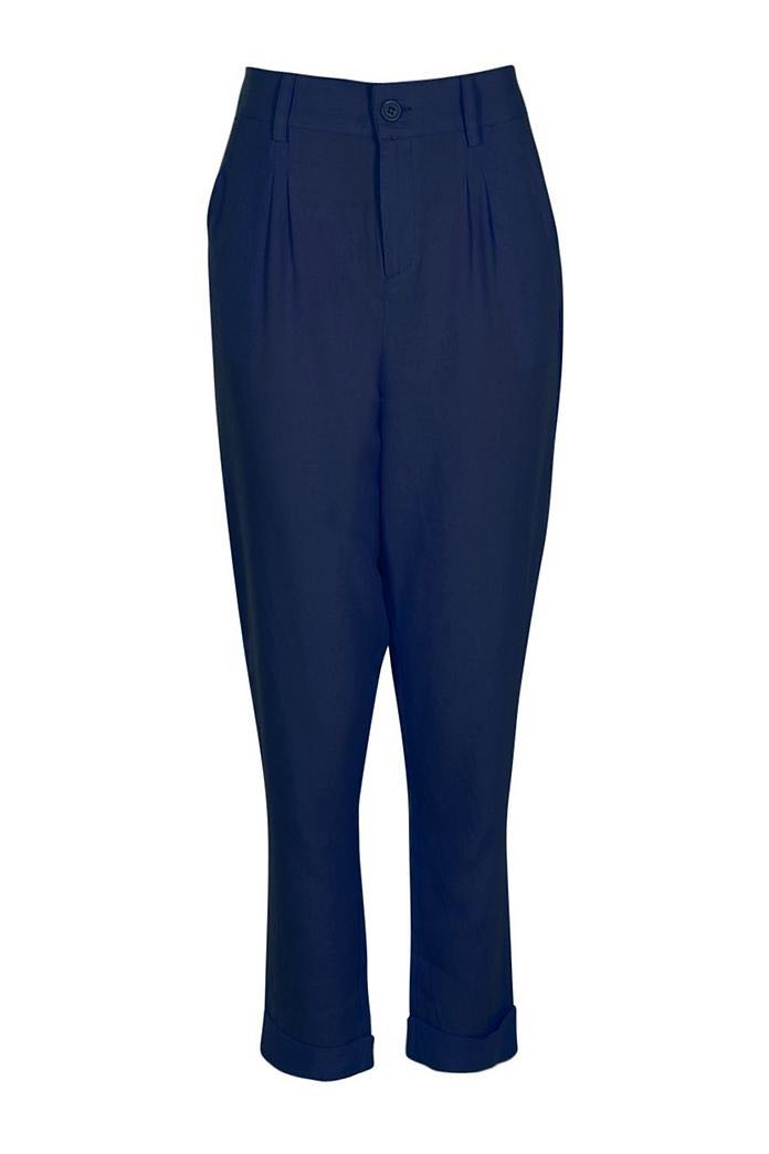 Chino Style Woven Navy Trousers Size 8