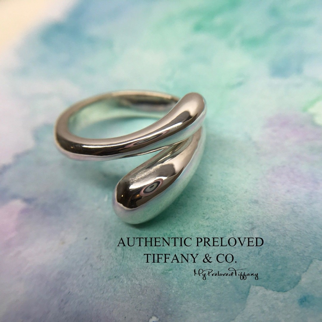 b3ea9c604 Excellent Authentic Tiffany & Co. Elsa Peretti Teardrop Silver Ring #6 RP  US$500 plus tax, Women's Fashion, Jewellery, Rings on Carousell