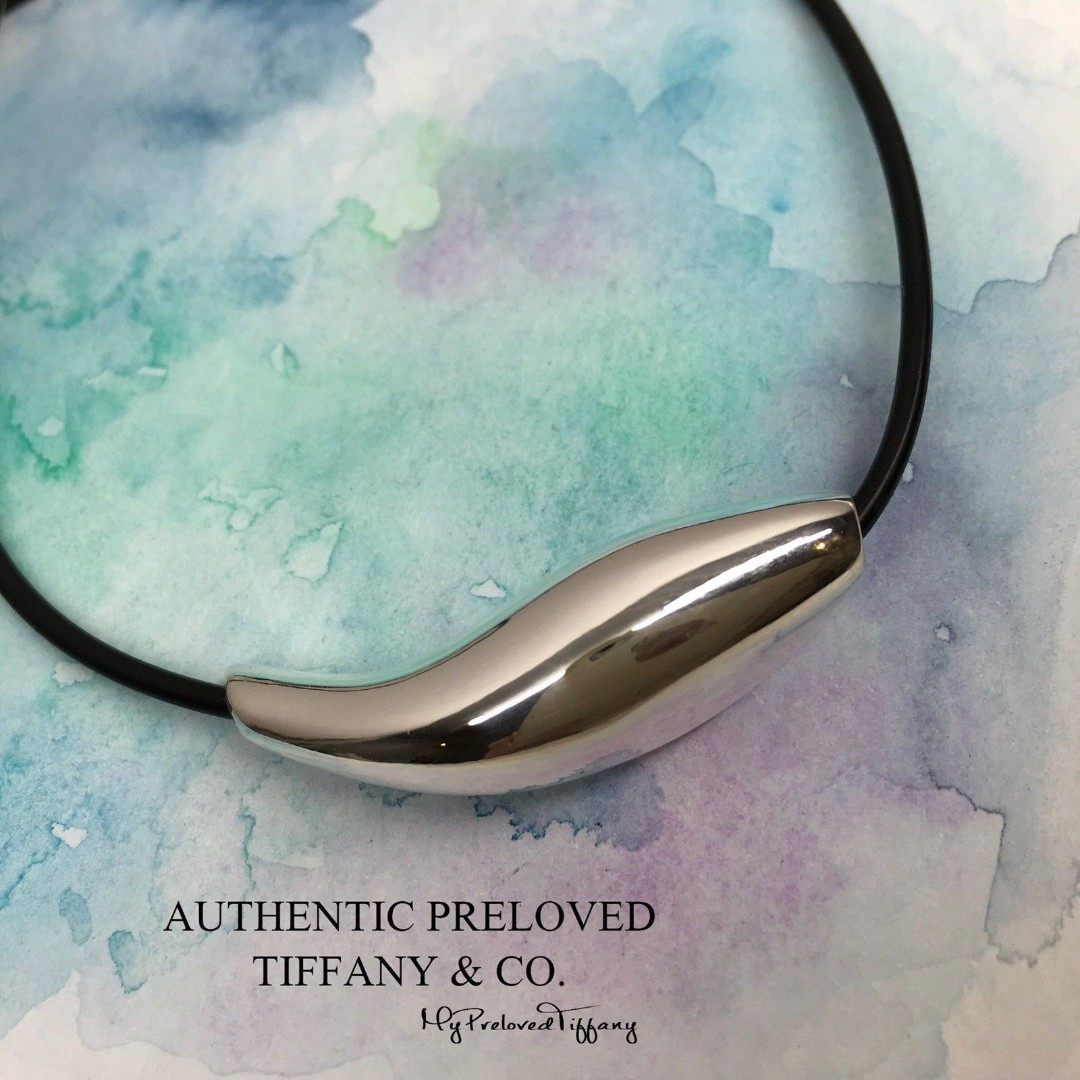 262accc09 Excellent Authentic Tiffany & Co. Gehry Fish Choker Necklace Silver ...