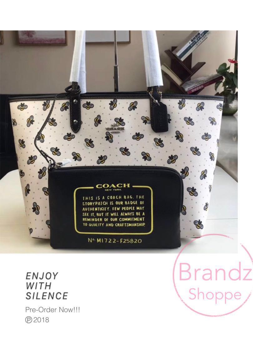 d8d21ac67d 🐝HOT! Coach Women Reversible City Tote 👜   Shoulder Bag   Short ...