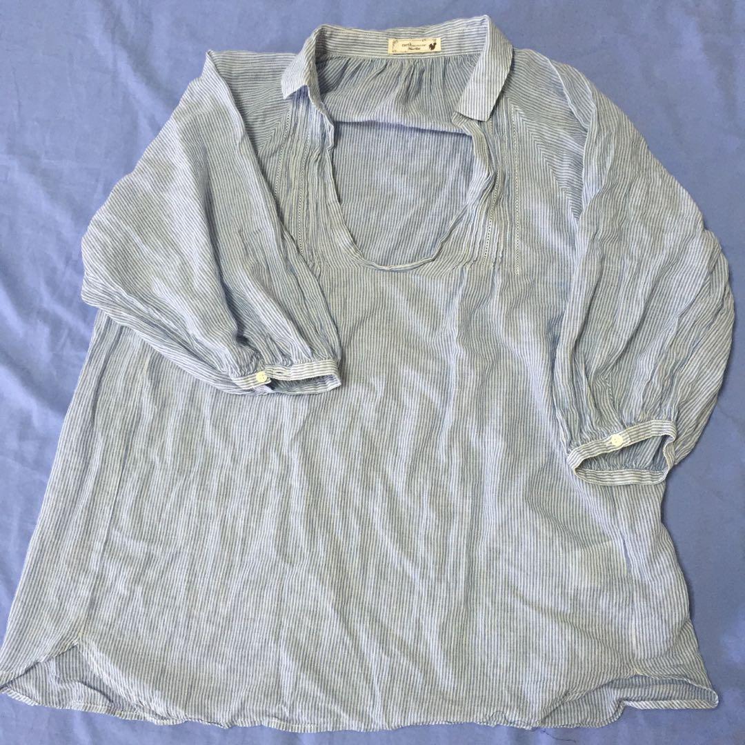 Light blue stripes blouse