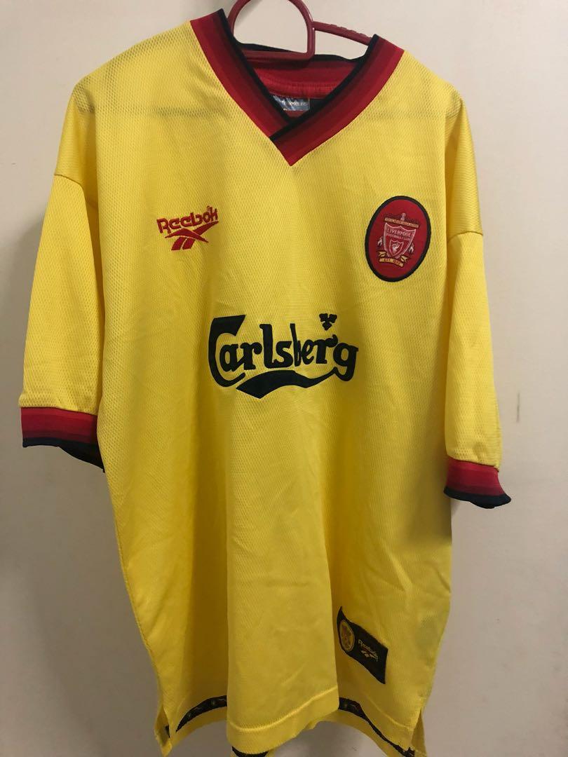 uk availability e9842 d0614 LIVERPOOL FC AWAY KIT 1997-1999 FOOTBALL SHIRT JERSEY ENGLAND REEBOK