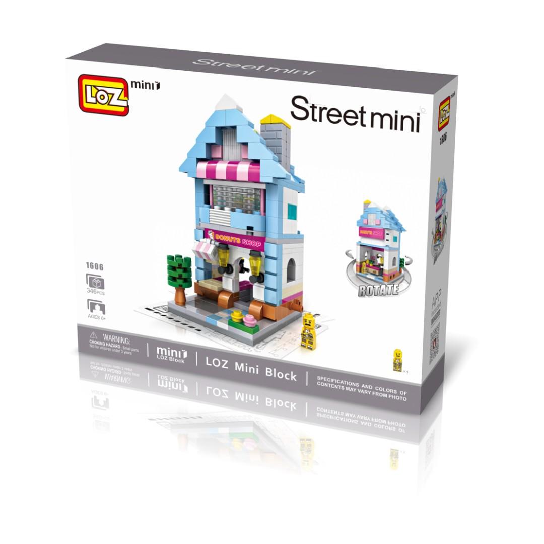Loz Street Mini Donut Shop Toys Games Bricks Figurines On Nano Block Nanoblock Kung Fu Panda Po Photo