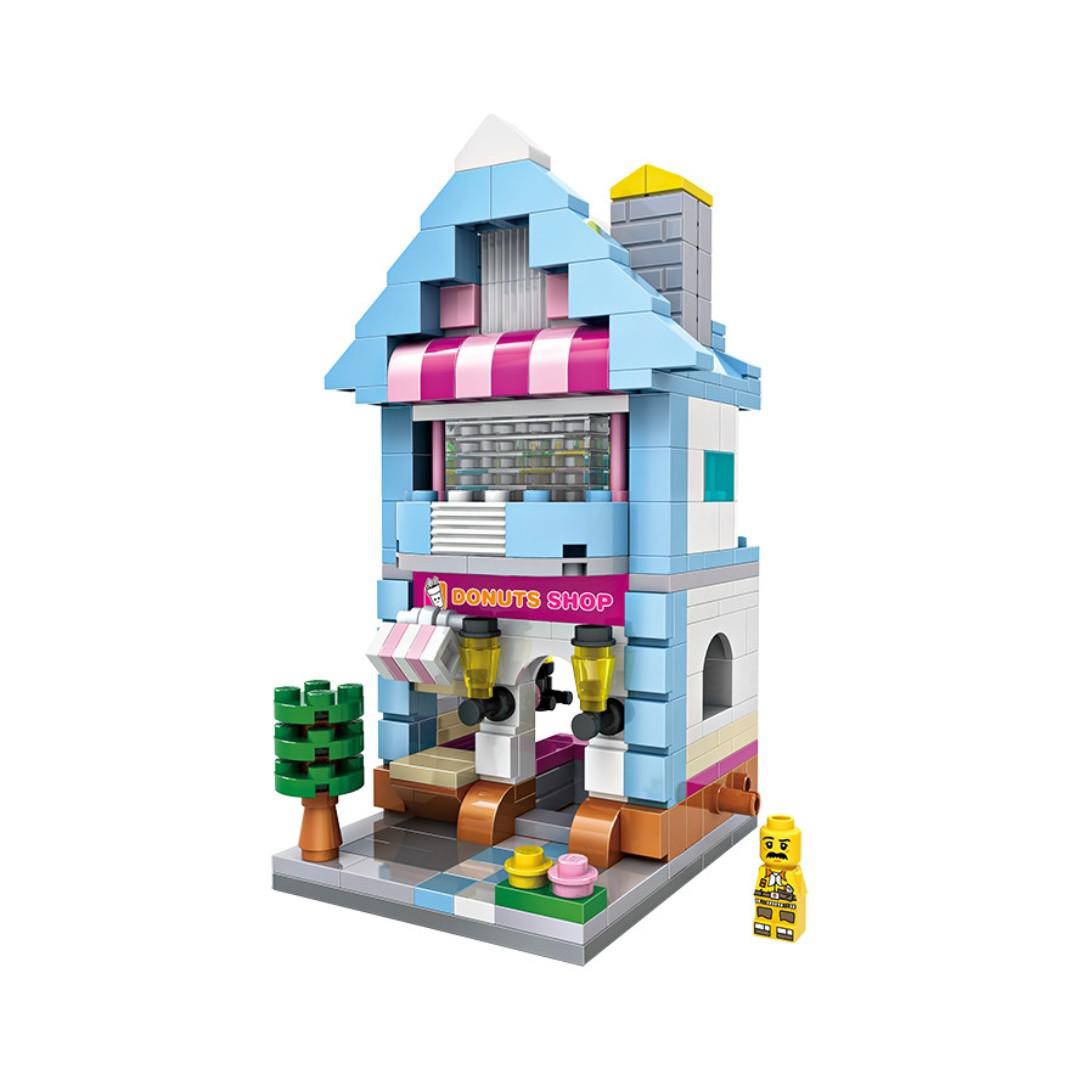 Loz Street Mini Donut Shop Toys Games Bricks Figurines On Nano Block Nanoblock Kung Fu Panda Po Share This Listing