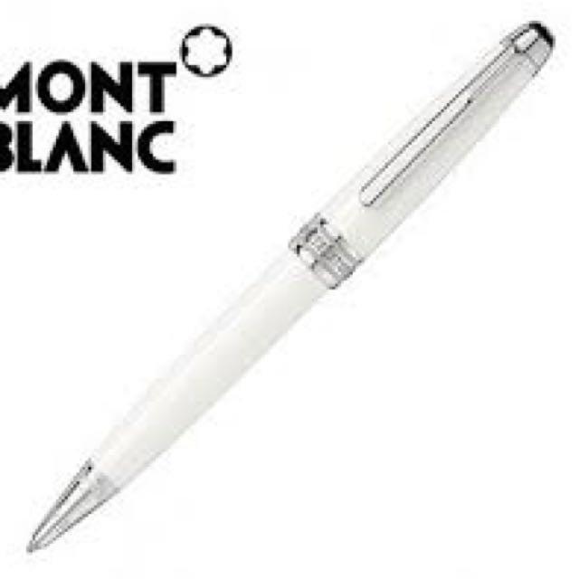 萬寶龍(MontTBlanc) MP106846 M23268 勃朗峰白色系列圓珠筆 萬寶龍限量版原子筆 9成9新