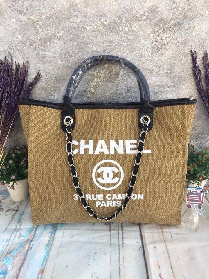 d7c03fe7ee9864 OPEN BARTER dgn ini Chanel vip gift cambon rue canvas creme, Women's  Fashion, Women's Bags & Wallets on Carousell