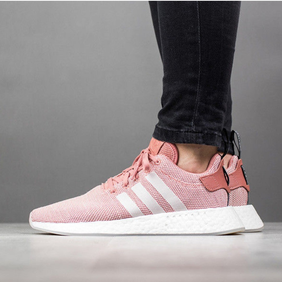 PO) Adidas Womens NMD R2 Ash Pink, Women's Fashion, Shoes ...