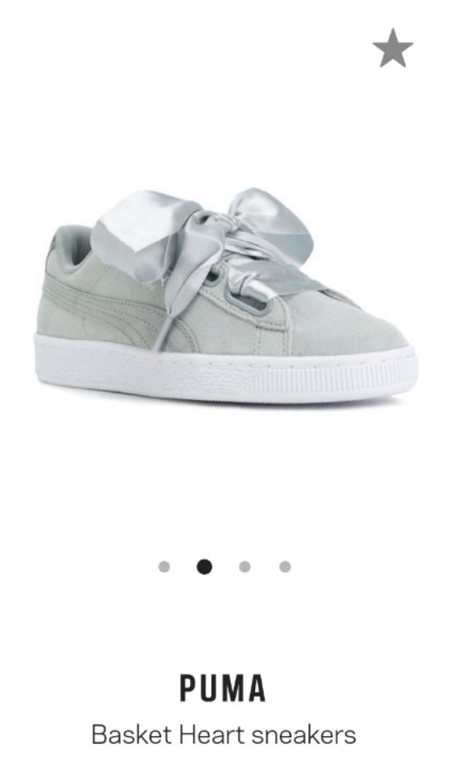 the best attitude 1ec2b 98299 Puma Basket Heart sneakers in grey (suede), Women's Fashion ...