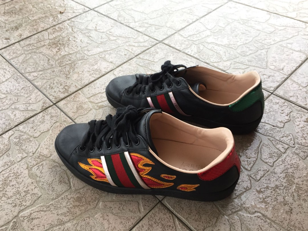 a254ca2c71571 STEAL!!  GUCCI ACE FLAME SHOE
