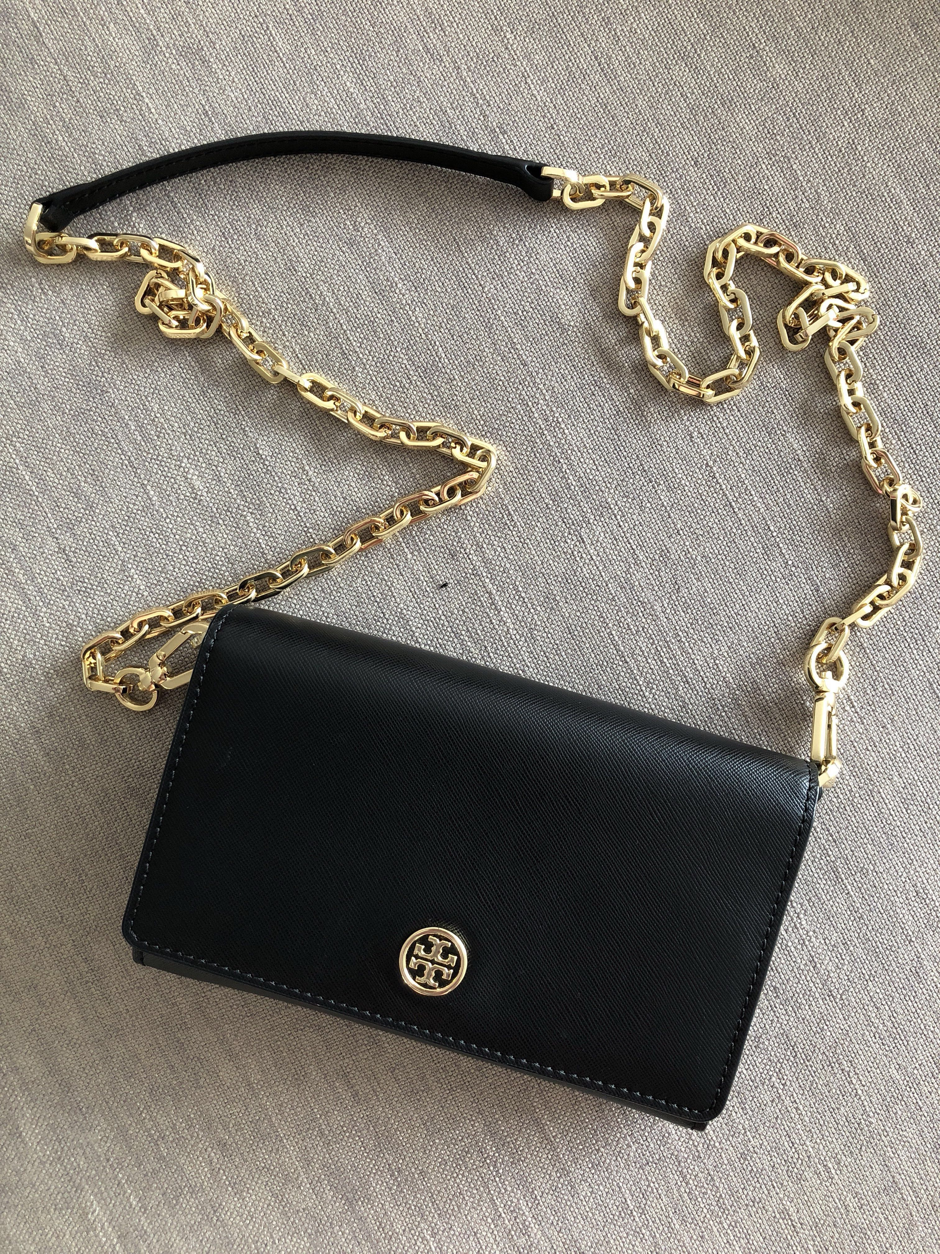 f764c0f5c6 Tory Burch Robinson Chain Wallet, Luxury, Bags & Wallets on Carousell
