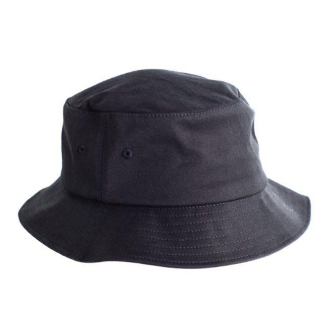 816437ccdc2 unisex plain black bucket hat