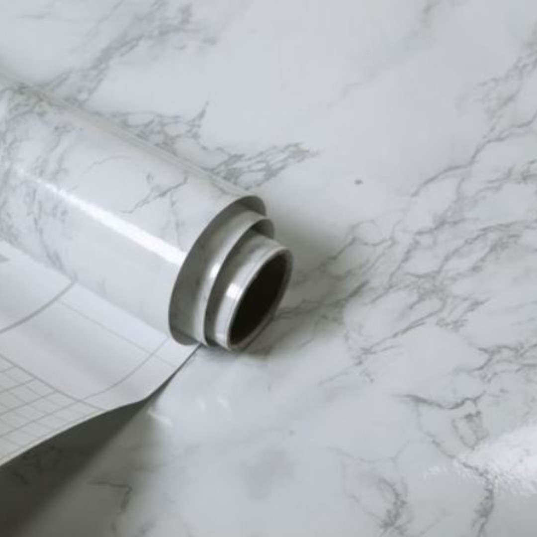White Marble Minimalist Vintage Self Adhesive Contact Paper