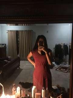 #mausupreme Dress Ripcurl maroon