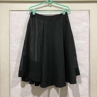 香港品牌 BLUES HEROES設計款紗拼接裙