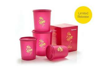 Tupperware Deco Lotus Canister
