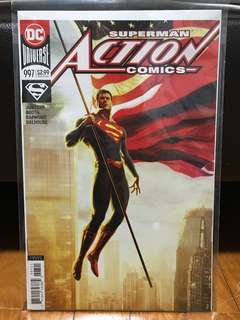 Action comics #997 and #999 variant covers